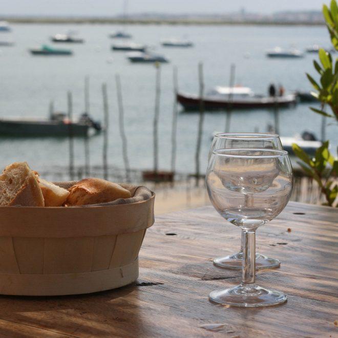 Essen mit Blick auf die Bucht von Arcachon